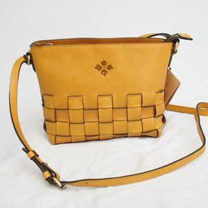 PATRICIA NASH CARANNA YELLOW Woven CROSSBODY